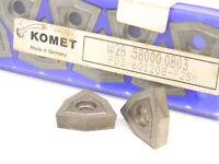 10 NEW SURPLUS KOMET CARBIDE INSERTS W29 58000.0803  WOEX 120608-00P25M