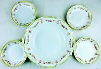 """Antique old vintage Nippon Hand Painted Pink Roses serving Bowls 9.5"""" W & 5.5"""" W"""
