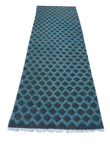 Handmade Vintage Afghan Runner Rug Needlepoint Area Floor Rug Hallway 3x10