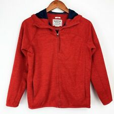 Kid's Burton Dry Ride Red Full Zip Hooded Jacket Size Large Pockets