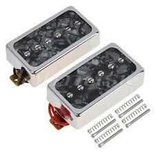 Single coil Pickups Bridge Neck for Electric Guitar Part Replacement Black Pearl