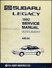 1992 Subaru Legacy ABS Shop Manual Anti-Lock Brakes 2E Repair Service Book OEM