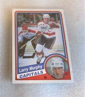 1984-85 O-Pee-Chee Larry Murphy #204 Hockey Card HALL OF FAMER SET BREAK VG HOF