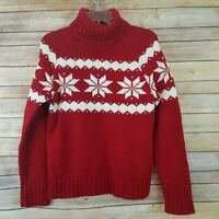 Motherhood Maternity Womens Size M Turtleneck Sweater Red Long Sleeve Heavy