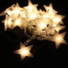 20-LED 78inch Battery Operated Wedding Star Pentagram String Fairy Lights