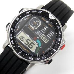 CITIZEN PROMASTER D120 Sporte Wind Jack Quartz Black Dial Digital Watch