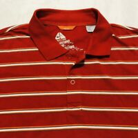 Nike ACG Mens Polo Shirt Size 2xl Short Sleeve Red Striped All Condition Gear