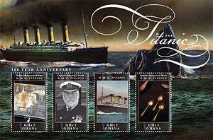 Ghana 2012 - R.M.S. 100th Anniversary Titanic - Sheet of 4 MNH