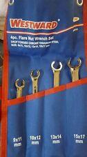 WESTWARD  4 pc Metric Flare Nut Wrench Set 1EYF3