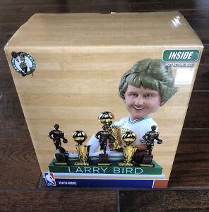 LARRY BIRD Boston Celtics 3x NBA Champ & MVP EXCLUSIVE Trophy Bobblehead BNIB