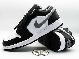 Brand New Nike Air Jordan 1 Low Black Particle Grey 3.0 GS 2021 EU 37.5 38 39 40