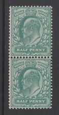Pair of GB KEVII 1/2d Blue-Green SG216 King Edward VII Mint Never Hinged Stamp