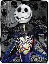"Nightmare Before Christmas Jack Skellington Plush  Blanket 46""x60'' Dark Creep"