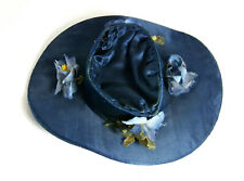 Antique Blue Doll Hat with Blue Flowers