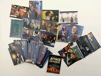 49 Attack of the Clones Topps Inc. 2 foils, A Fold Out & index card - Star Wars