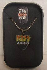 KISS Guitar Pick Necklace and Collector Box by Rock Express, BRAND NEW
