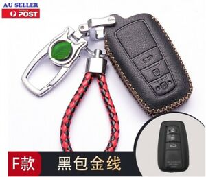 For Toyota Rav4 2019-2021 Car key case cover geniue leather-Gold 3