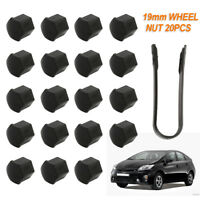 20X Car Wheel Bolt Nut Covers Caps 19mm Removal Tool For Ford Focus [Mk2] 04-11
