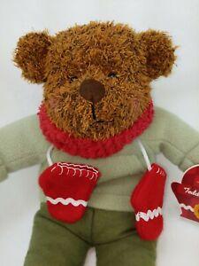 "Hallmark TEDDY MITTENS 12"" Stuffed Animal Beanbag Plush with Original Tags"