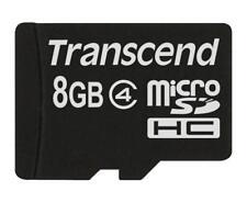 Transcend microSDHC          8GB Class 4 NEW