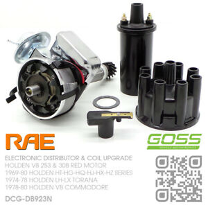 RAE ELECTRONIC DISTRIBUTOR & GOSS COIL V8 253 & 308 RED [HOLDEN LH-LX TORANA]