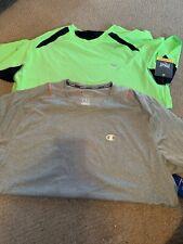 Everlast/ Champion Lot Of 2 Light Performance Tshirts In Xl Green & Grey/wht Nwt