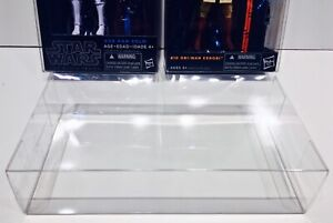 """50 Box Protectors For Star Wars Black Series 6"""" Figures with Blue/Orange Stripes"""