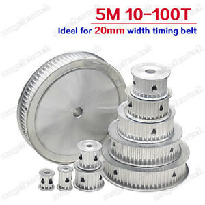 5M Timing Belt Pulley 10-100 Teeth Idler without Bearing 5mm Pitch for 20mm Belt