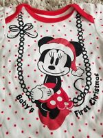 Disney Baby Girl Infant Minnie Mouse Baby's First Christmas Outfit 3-6 month