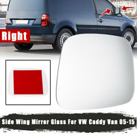 Right Side Door Wind Rearview Mirror Glass Clear For VW Caddy Van 2005~2015 RHS