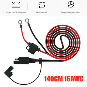 140CM 16AWG SAE to O Ring Cord SAE Socket Connector Cable Car Battery Charging