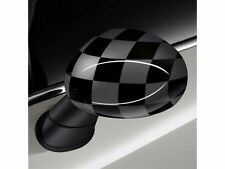 NEW OE MINI Cooper Black Grey Checkered Replacement Mirror Covers Caps Pair