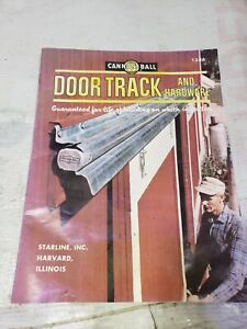 VINTAGE**RARE** STARLINE BARN EQUIPMENT Cannon ball door track brochure FARM OIL