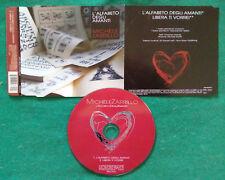 CD SINGOLO Michele Zarrillo L'Alfabeto Degli Amanti POP no lp mc vhs dvd(S1)