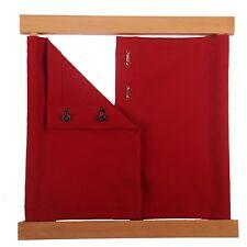 NEW Montessori Practical Life Material -Beechwood Hook and Eye Dressing Frame