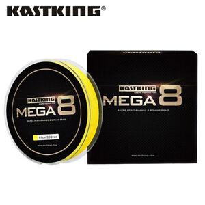 KastKing Mega 8 Braided Fishing Line 137/247/457m 8 Strands Leader line UK