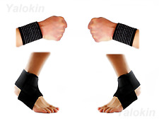 2 Wrist Straps, 2 Ankle Straps for Recovery,Injury Protection Support (ST9)