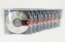TDK MD XG 74 Min Recordable Minidiscs x 10 (Pack of 10 used)