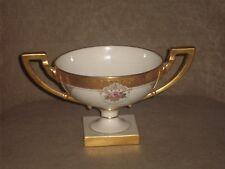 VINTAGE LENOX GOLD ENCRUSTED COMPOTE GOLD HANDLES, BASE & TRIM OLD GREEN MARK