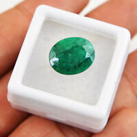 Ring Size 5.50 Cts Earth Mined Rich Green Emerald Oval Shape Faceted Gemstone
