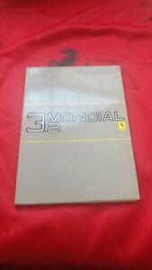 Ferrari Mondial 3.2  Owners Handbook/Manual 95990075 vers 377/85 NOS