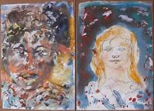 Peintures et émaux du XIXe siècle et avant signés portrait, autoportrait