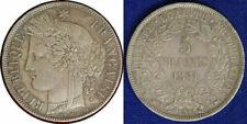 Pièces de monnaie françaises de 25 centimes 5 francs