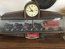 Budweiser World Champion Clydesdale Team Lighted Clock Display 1950's era