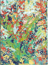 SALE Original Abstract Acrylic Landscape Knife Flower Garden Painting ACEO ART