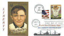 CHRISTY MATHEWSON Ship named for Baseball Athlete, Portrait First Day of Issue