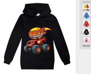 Blaze and the Monster Machines Boys Kids Girl Long Cotton Sleeved Sweater Hooded