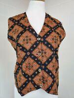 Effect Vintage Steampunk Victorian Goth Multi Color Beaded Vest Waistcoat Medium