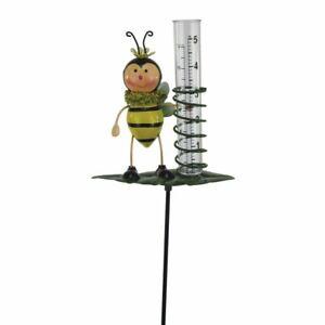 Regenmesser Biene aus Metall 84 cm groß neu Gartendeko Deko
