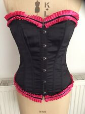 Steel Boned Over Bust Corset Bustier Size XL